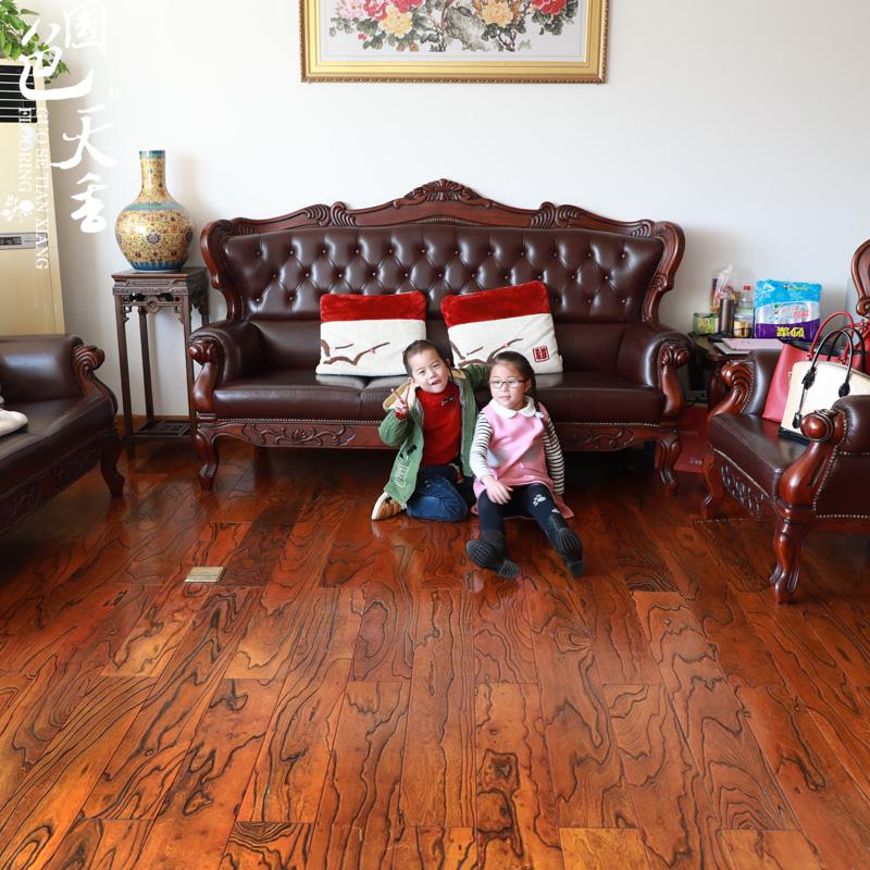 多层实木复合地板老榆木地板15mm地暖地板纯实木地板厂家直销特价
