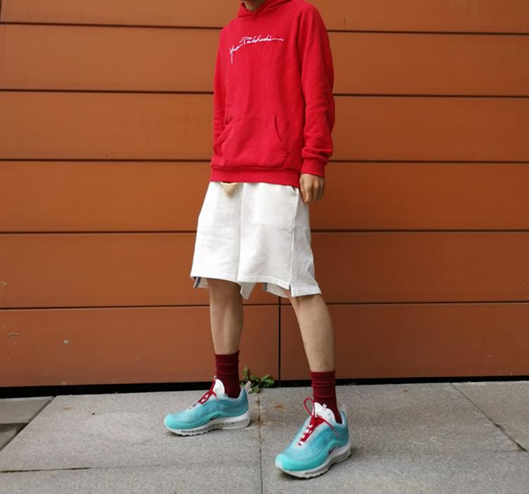 自主自产黑色白色吊裆短裤男女夏季不规则分叉五分裤  神奇商行