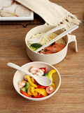 Instant noodle bowl with lid instant noodle bowl chopsticks spoon set cute tableware cup lunch box single student dormitory home artifact