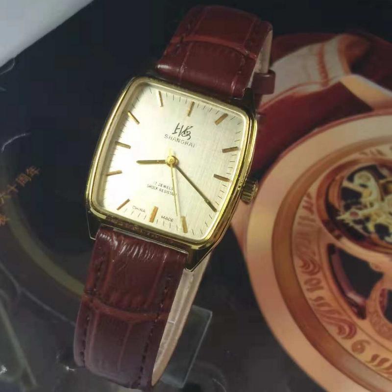 原装库存机械老表方形经典手动机械手表复古怀旧国产品牌腕表
