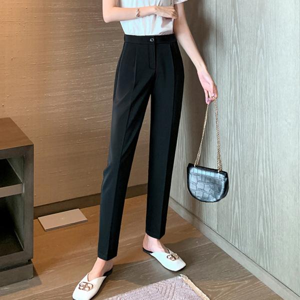 加长西装裤子女2020新款秋季宽松直筒高腰显瘦垂感烟管休闲裤