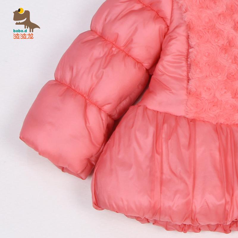 波波龙童装女童棉衣2017新款婴儿棉衣加厚女宝宝冬装外套羽绒棉服