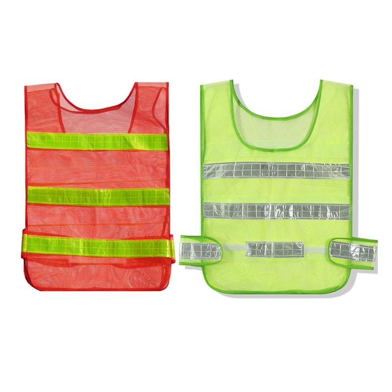 反光背心马甲可印字多口袋交通施工安全服骑行运动网金刚牛反光衣