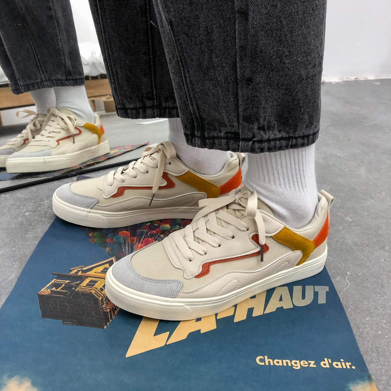 风夏季新款舒适百搭鞋子网红板鞋男鞋新款低帮鞋休闲鞋帆布鞋 ins