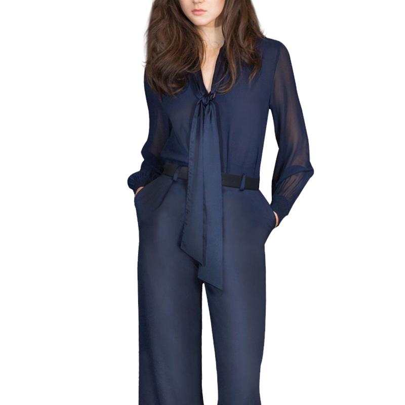 欧洲站2019秋季新款女装欧货秋装两件套欧美时尚气质阔腿裤套装女