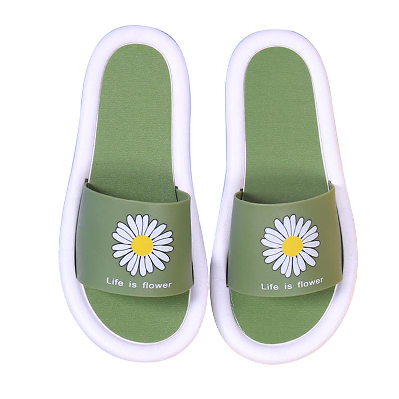 极域凉拖鞋女夏季外穿网红韩版家用防滑居家室内情侣洗澡冲凉拖鞋 - 图0