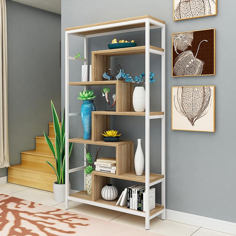 古董架博古架隔断多宝阁置物架客厅花架铁艺多层创意书架展示柜