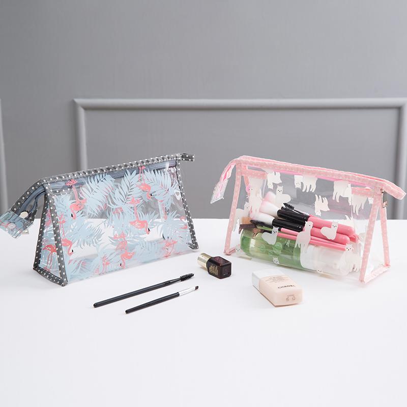 旅行大容量网红化妆包袋大小号可爱少女心简约便携透明洗漱收纳包