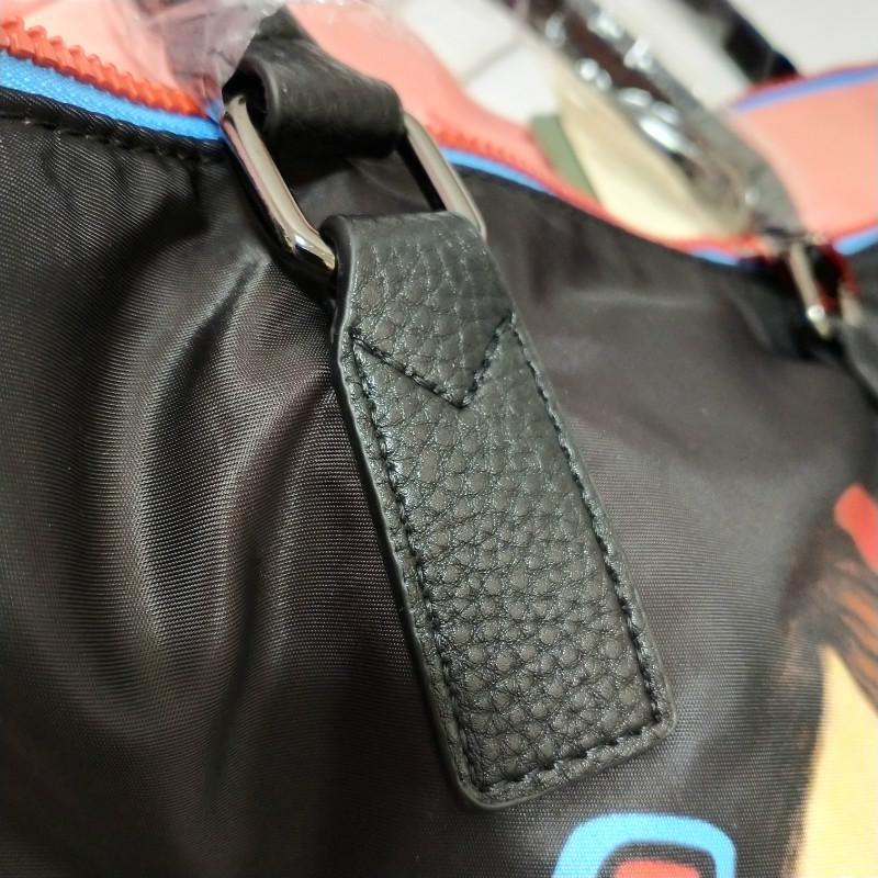 韩版娃娃印花尼龙帆布女士旅行包大容量行李包手提包 1800 官网