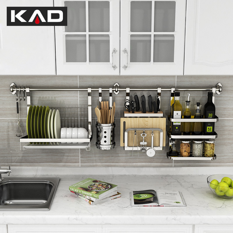 304 stainless steel kitchen wall shelving and kitchen storage rack kitchen  accessories kitchen supplies