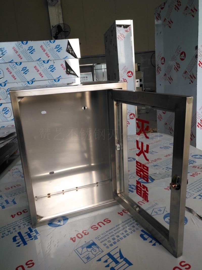 壁挂式不锈钢灭火器箱挂壁式不锈钢灭火器箱玻璃门灭火器箱