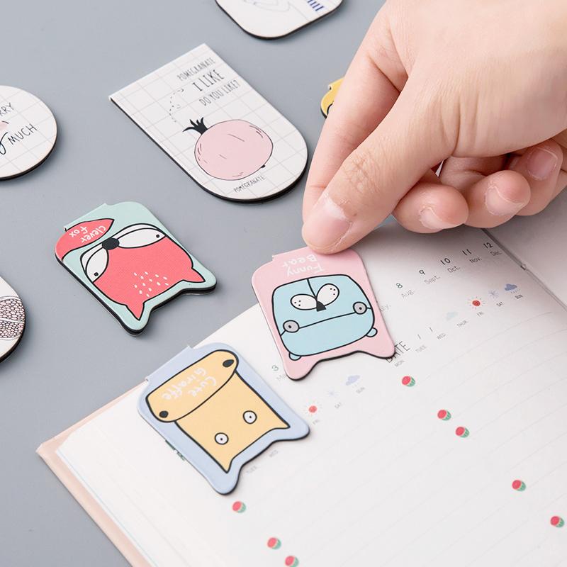 可爱磁性创意古典中国风学生用简约文艺卡通文具小清新磁铁书签纸