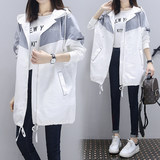 Maternity spring coat 2020 spring fashion new Korean loose large size wild tide mom long windbreaker