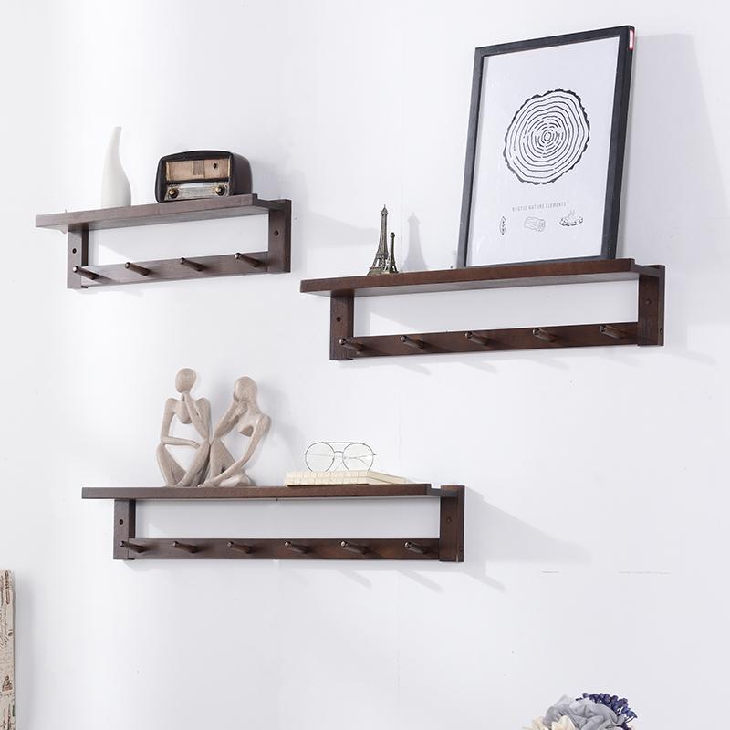 名门匠橡实木衣帽架壁挂客厅挂衣架创意墙上挂衣钩墙壁衣服置物架