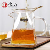 Huangshan glass square fair cup thickened heat-resisting tea maker cup cup tea cup cup fair tea tea sea