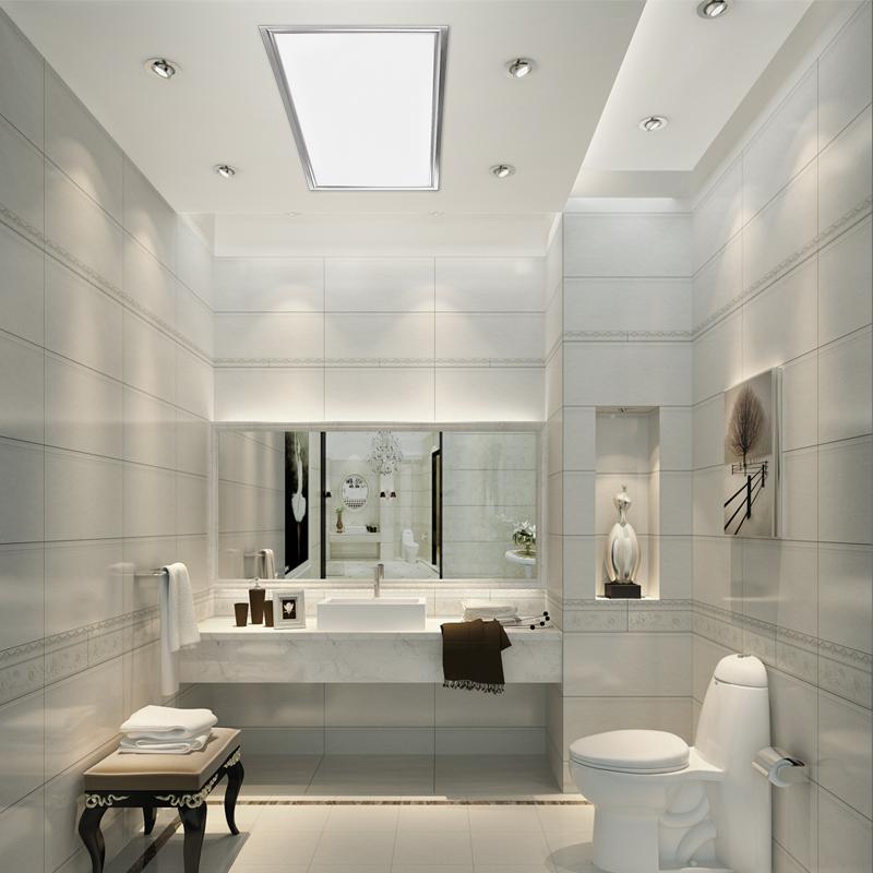 平板燈 600 300 300 廚房衛生間吸頂燈鋁扣板嵌入式 燈 led 集成吊頂