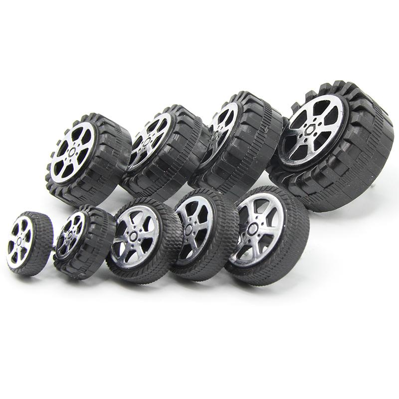 玩具塑料轮胎玩具车轮子零配件孔径2mm车轴紧配diy小制作遥控车轮