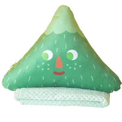 捕梦岛抱枕被子两用汽车办公室靠枕空调被珊瑚绒毛毯午睡毯多功能