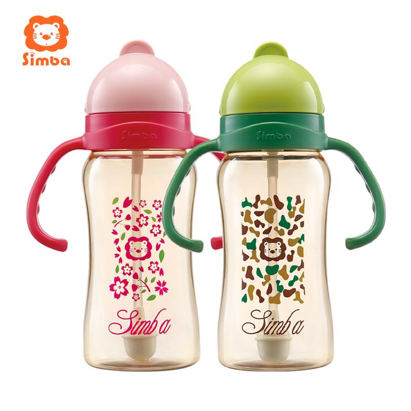 小狮王辛巴PPSU重力球吸管杯婴儿学饮杯宝宝喝奶喝水防漏儿童水杯