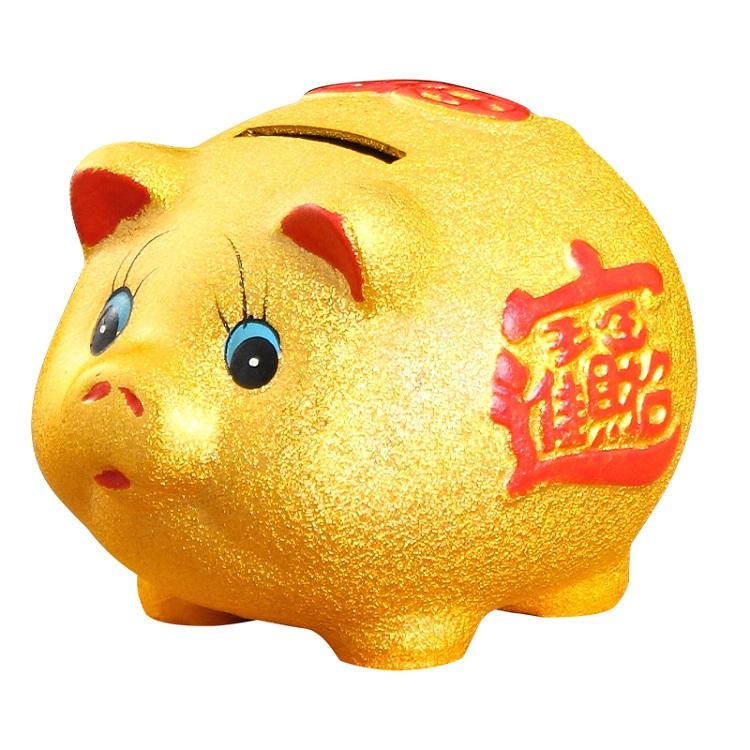 金猪储蓄罐不可取儿童大人用家用存钱罐创意储钱罐只进不出大容量