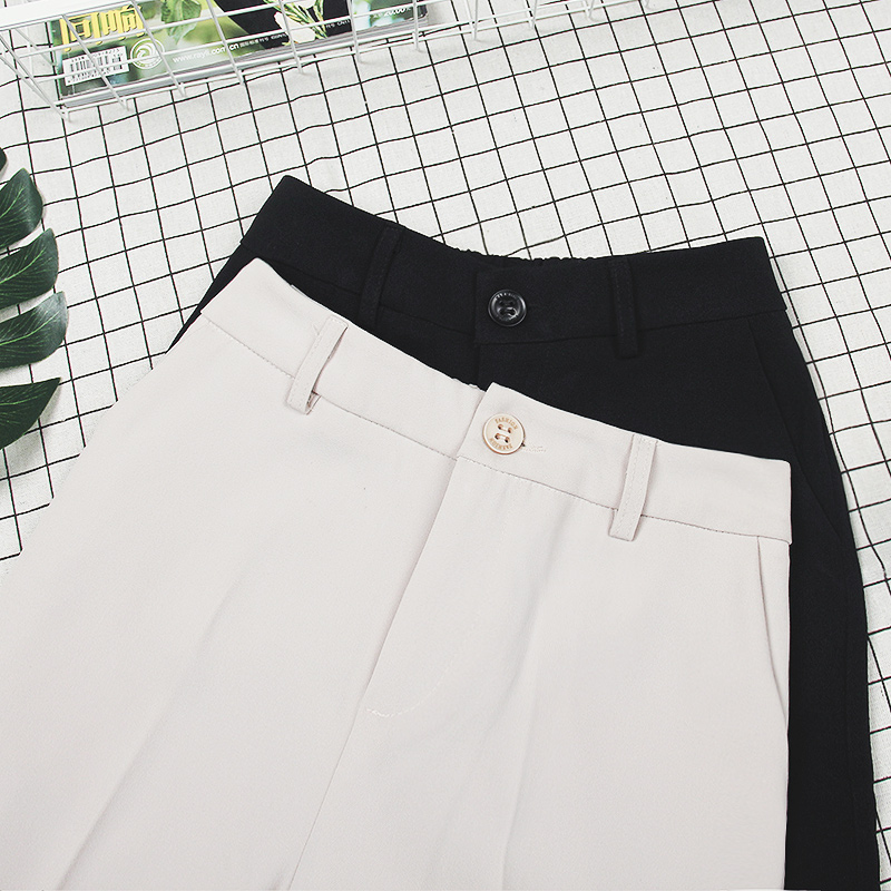 西装裤女哈伦西裤子薄款九分阔腿夏季2021宽松直筒高腰春秋垂感