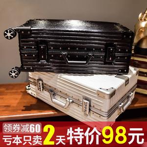 行李箱拉杆箱韩版女网红旅行箱24寸万向轮男20铝框密码皮箱子ins