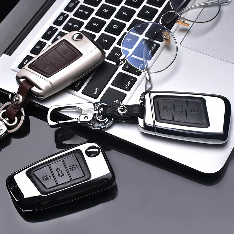 2018款大众新迈腾b8钥匙包途观L专用2019款CC帕萨特车钥匙套壳扣