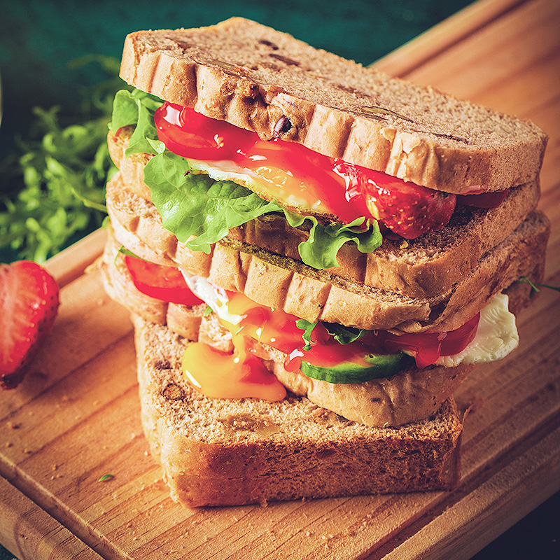 全麦黑麦面包片0无糖精粗粮早餐代餐主食饱腹食品减低脱脂肪吐司0 No.3