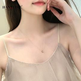 镶施华洛世奇锆小蛮腰项链纯银玫瑰金小众设计感彩金品牌锁骨链女