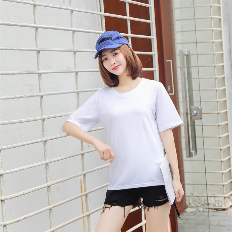 卡通米奇短袖t恤女士夏季韓版寬松大碼半袖白色上衣體恤純棉新款