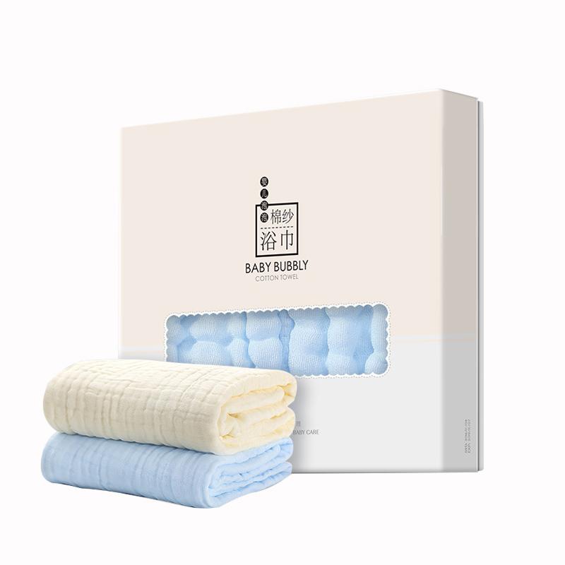 子初婴儿浴巾纯棉新生儿6层加厚柔软吸水大毛巾儿童宝宝盖毯浴巾