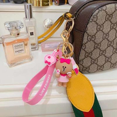 linefriends布朗熊钥匙扣女可爱ins网红书包挂件公仔汽车钥匙挂件