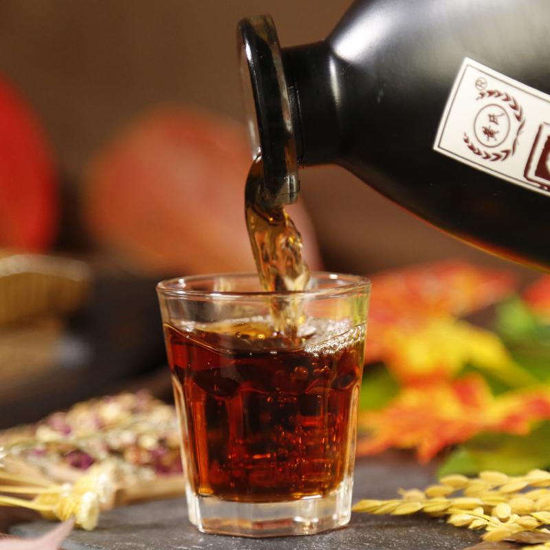 坛装 500ml 黄氏果酒红枣黑糯米酒粮食酿造米酒女士低度甜米酒黄酒