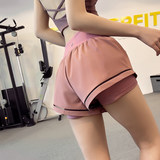 High waist mesh anti-light movement shorts women loose wear running quick-drying pants summer yoga shorts culottes
