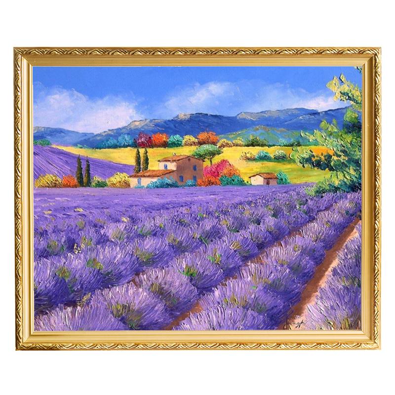 人物肖像油画定制照片送人礼物纯手绘抽象风景装饰画客厅玄关挂画
