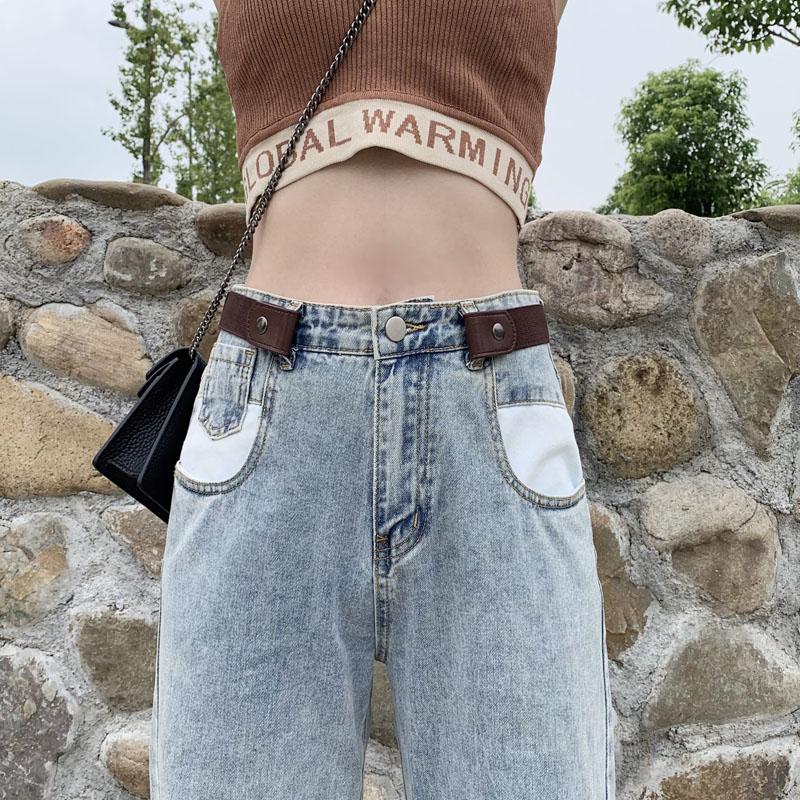 隐形皮带无痕懒人裤带百搭弹力松紧牛仔裤腰带女装饰ins风免打孔