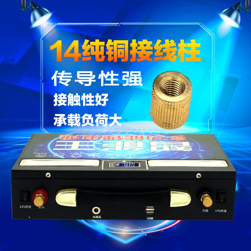大容量逆变器疝气灯超轻户外锂电瓶 60ah120ah 大容 12v 聚合物锂电池
