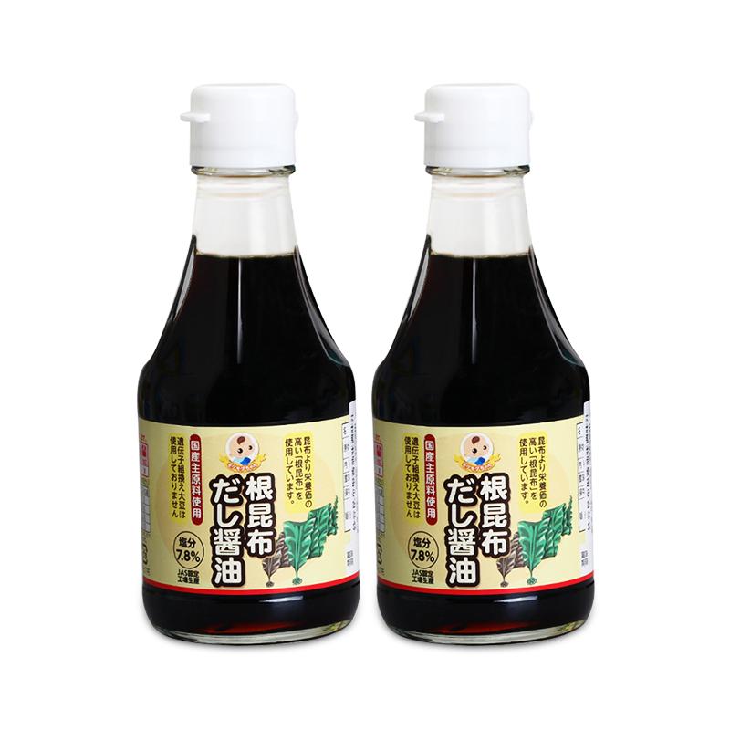 妙谷酱油儿童酱油日本进口昆布酱油宝宝调味料酱油调味汁200ml*2