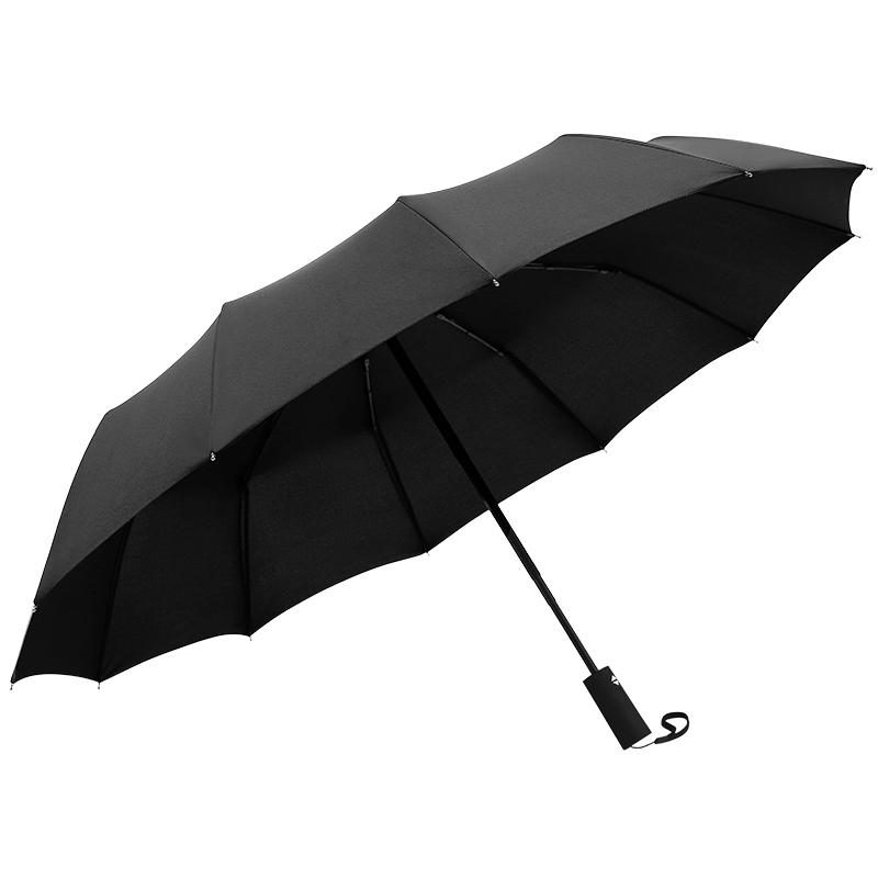 铝合金+玻纤骨架抗强风,宝迪妮 三折黑胶晴雨伞