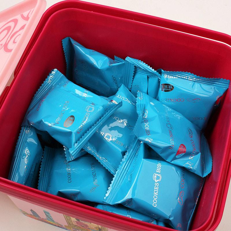 味可选 2 克 408 零食小吃 曲奇饼干 提篮礼盒装 万寿斋黄油曲奇
