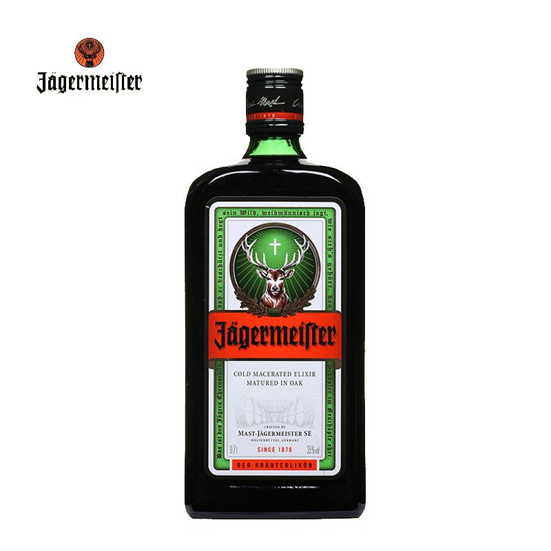 单瓶装野格 700ml 利口酒力娇配制酒 Jagermeister 德国进口酒 J 野格酒