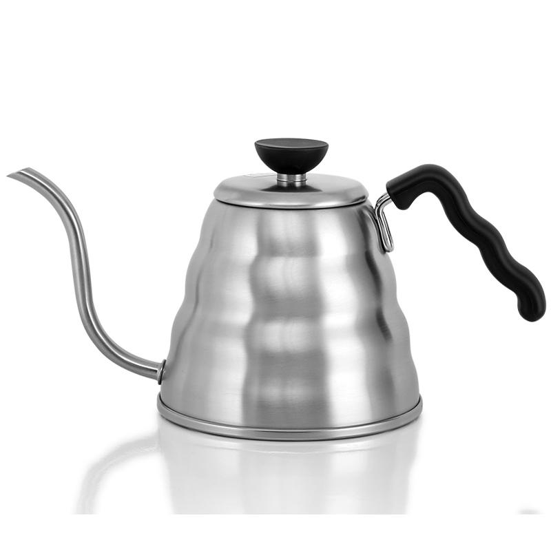 日本原装HARIO细口手冲壶不锈钢云朵咖啡壶 滴滤式手冲咖啡壶VKB