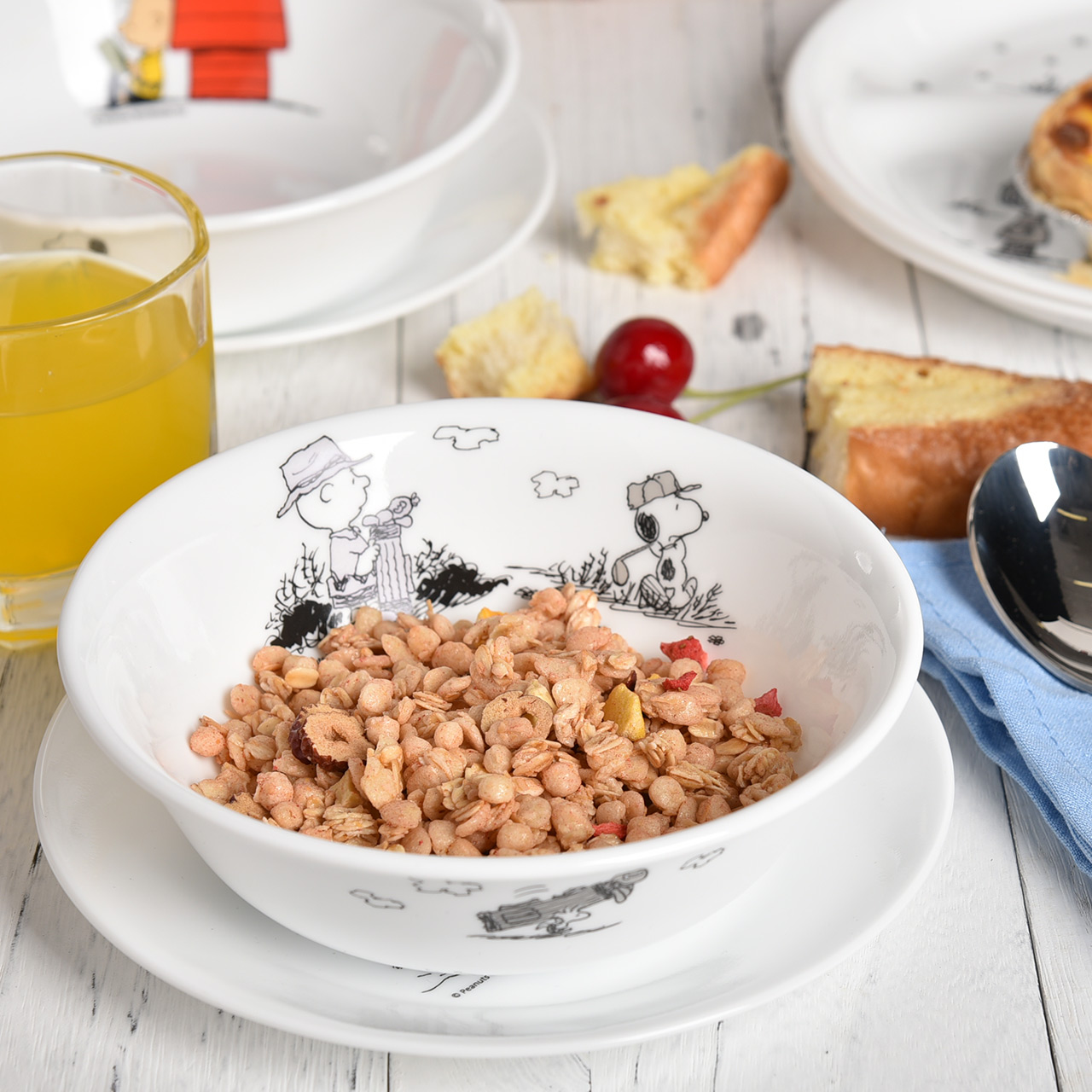 【官旗】corelle康宁儿童餐具史努比Snoopy餐盘宝宝碗分格盘散餐【图4】
