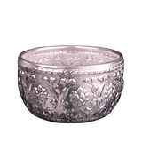 Exotic creative Southeast Asian desktop decoration tin bowl coverless bed storage bucket living room mini European garbage can