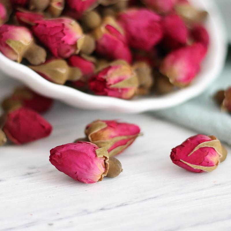 山东平阴玫瑰花茶叶特级天然无硫重瓣粉红花苞花蕾干玫瑰花瓣罐装