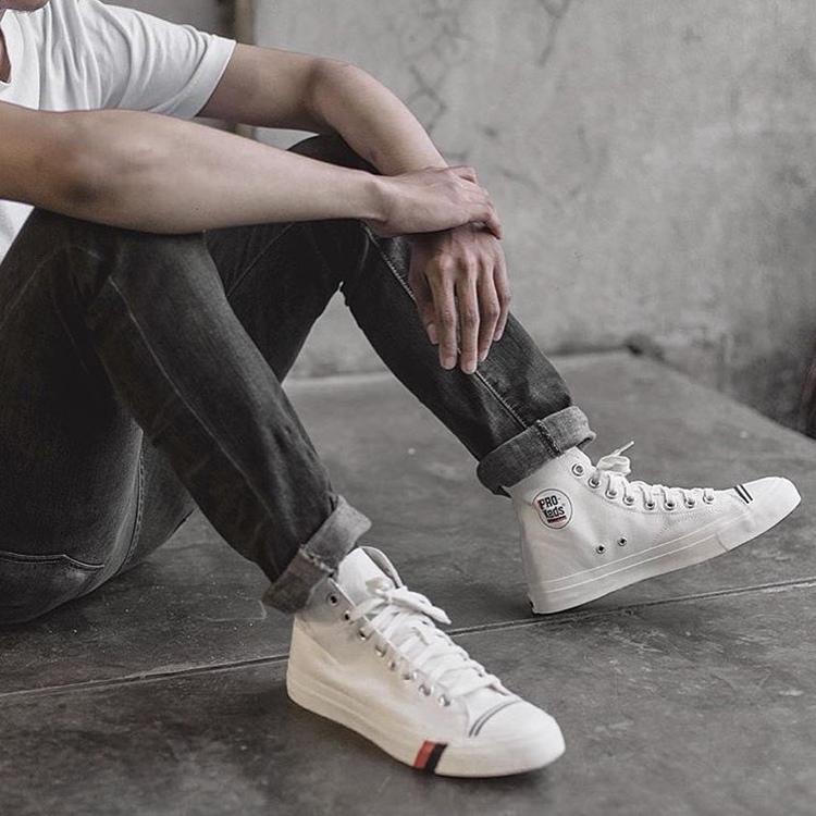 PRO KEDS ROYAL HI 经典黑白蓝色高帮男女鞋帆布鞋PK5447