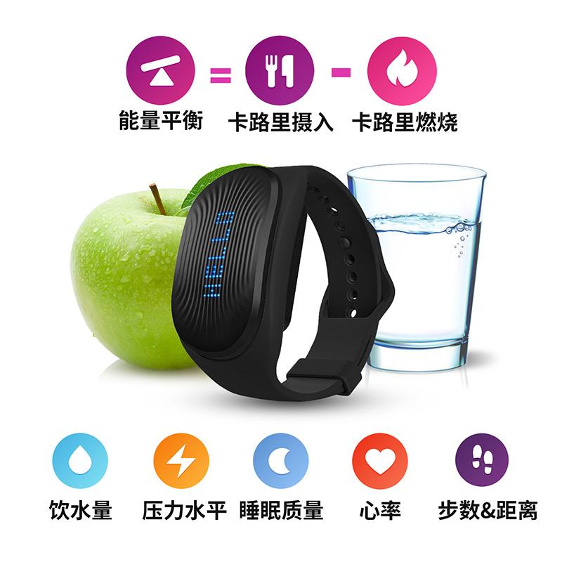 美国gobe2健康监测卡路里消耗华表饮水压力睡眠智能心率血压手环为