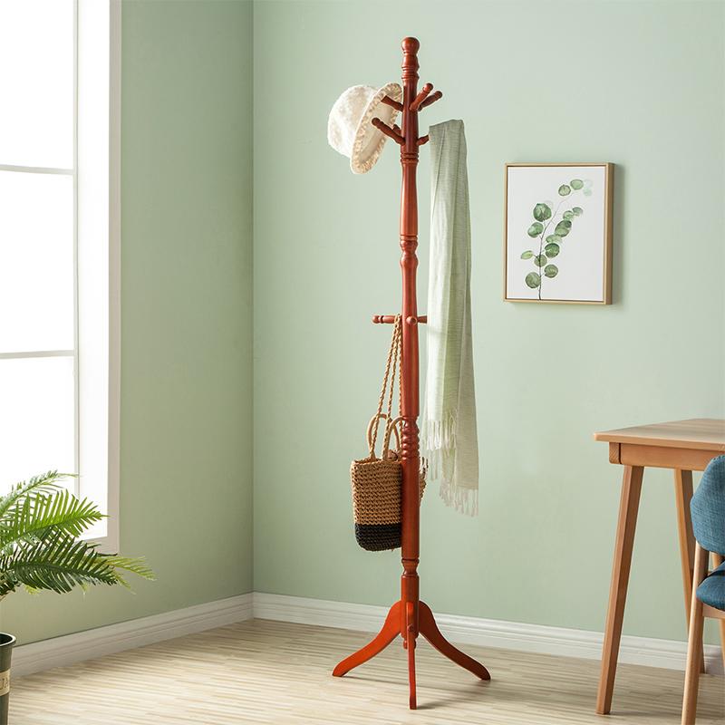心家宜欧式客厅衣帽架落地卧室实木挂衣架简约现代创意衣服包架子
