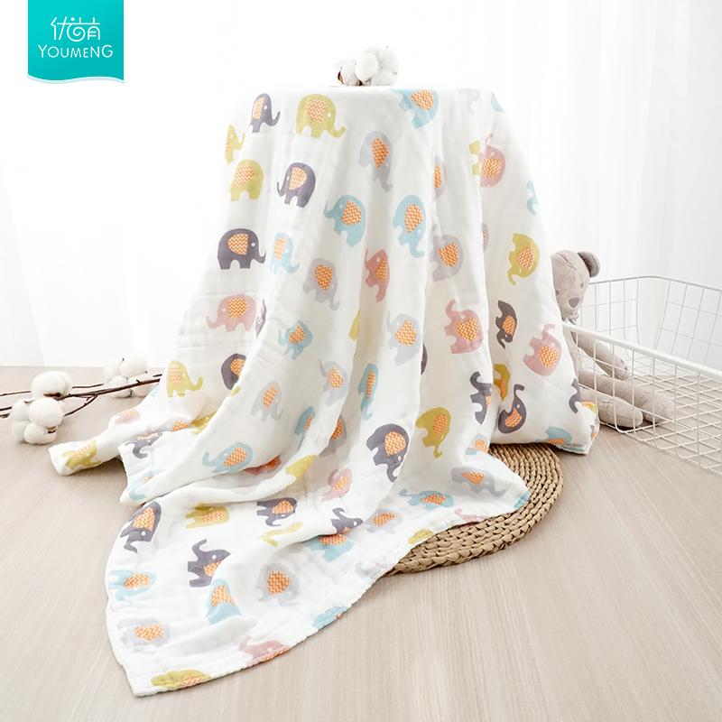 婴儿纱布浴巾初生纯棉超柔吸水大毛巾幼儿洗澡巾宝宝新生儿童卡通