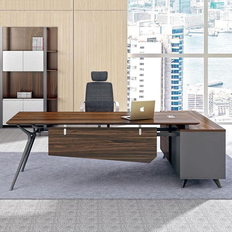 杭州总裁单人办公桌简约现代中班大班台经理主管桌办公家具老板桌